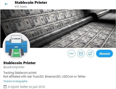 StableCoin Printer