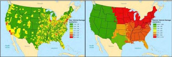 Gas car pollution vs  electric car pollution