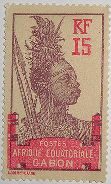 220px-Timbre Gabon AE Guerrier 1910