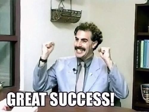 Great success !