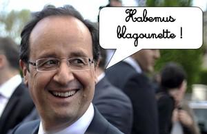 hollande : habemus blagounette