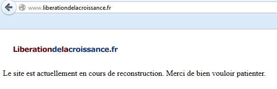 libération de la croissance française : 404 not found
