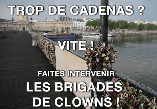 brigade de clowns pour les cadenas