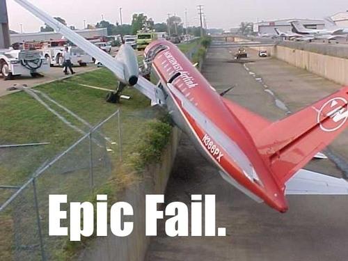 epic fail plane