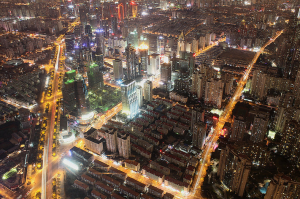 shanghai chine vue du ciel