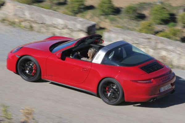 2016-porsche-911-targa-4-gts-above-rear-three-quarter-in-motion