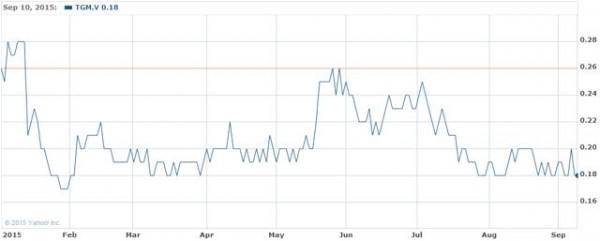 Cours de laction True Gold Mining sur le TSX Venture