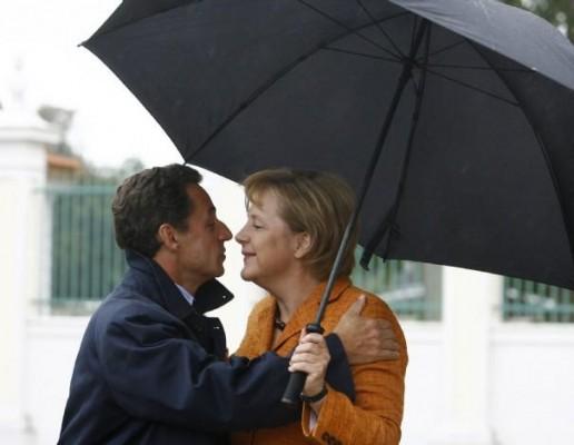 sarko-merkel parapluie