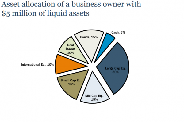 Asset allocation of a business owner with 5M  of liquid assets
