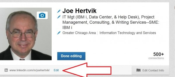 Linked-Edit-profile-screen-with-change-URL-option
