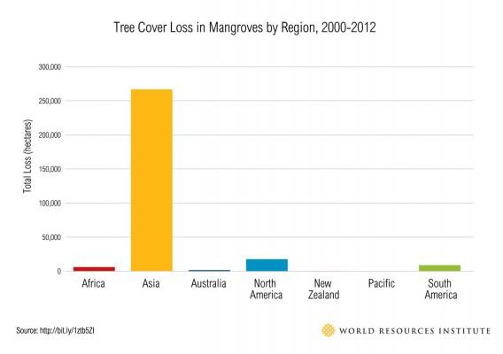 Tree-Cover-Loss-Mangroves chart regional