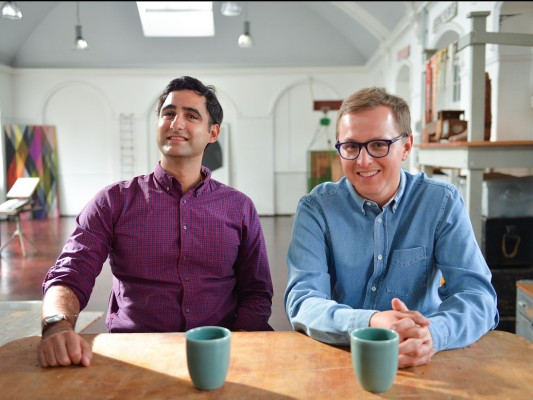 MarketInvoice co-founders Anil Stocker left and Ilya Kondrashov