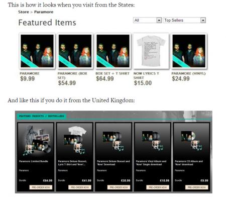 Paramore merchandising