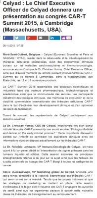 CELYAD 2 news