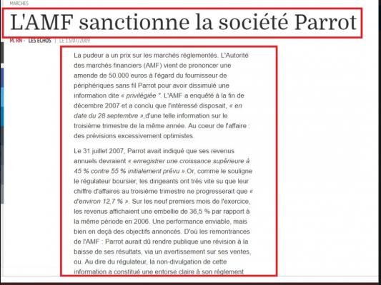 PARRO sanction AMF