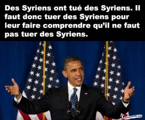 obama veut tuer des syriens