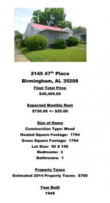 Alabama offre maison 3