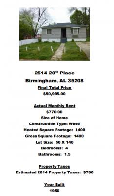 Alabama offre maison 4