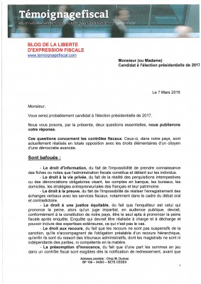 Lettre candidat 1